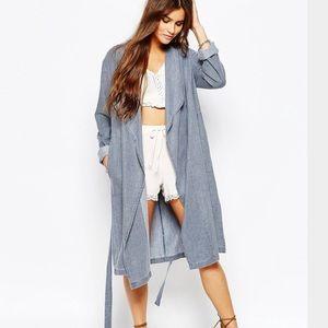 Somedays Lovin Indigo Chambray Duster Coat